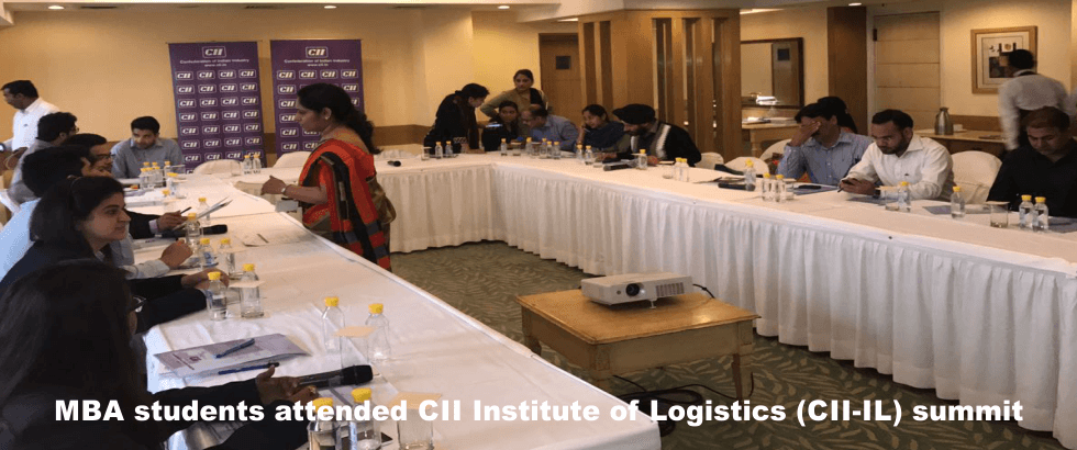 MBA students attend CII institute of logistics CII- IL summit